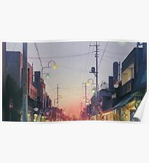 Studio Ghibli Anime Landschaft Japan Poster
