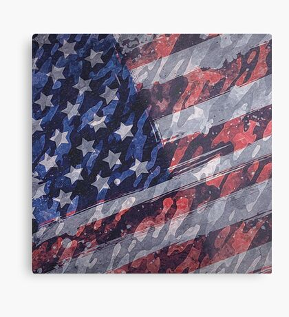 Rustic American Flag Metal Print