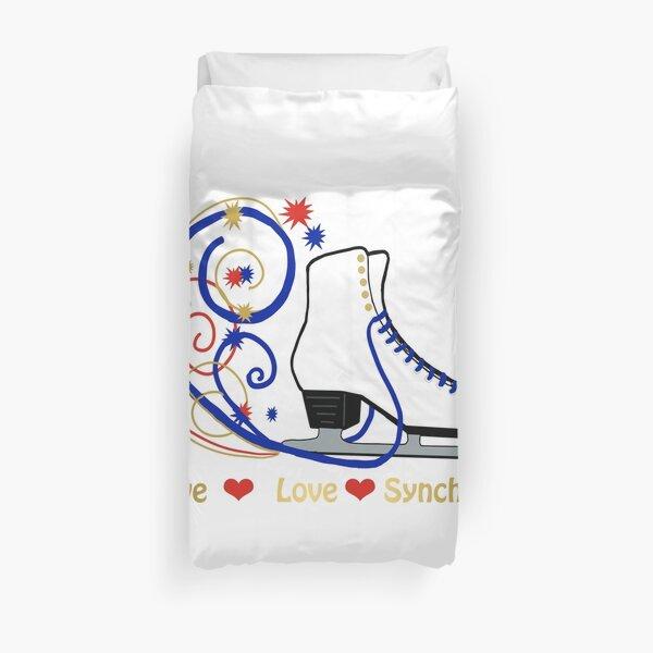 Live,Love,Synchro- Synchronized Figure Skating Design Duvet Cover