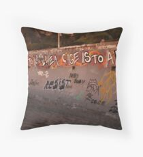 """""""The City is to Man, Like A Cage Is To A Bird"""" Throw Pillow"""