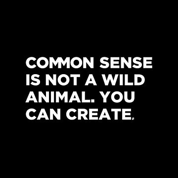 COMMON SENSE by notordinary