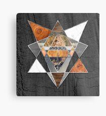 Rustic Geometry unusual Modern polygonal Urban Lodge art Metal Print