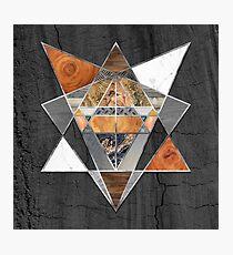 Rustic Geometry unusual Modern polygonal Urban Lodge art Photographic Print