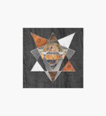 Rustic Geometry unusual Modern polygonal Urban Lodge art Art Board