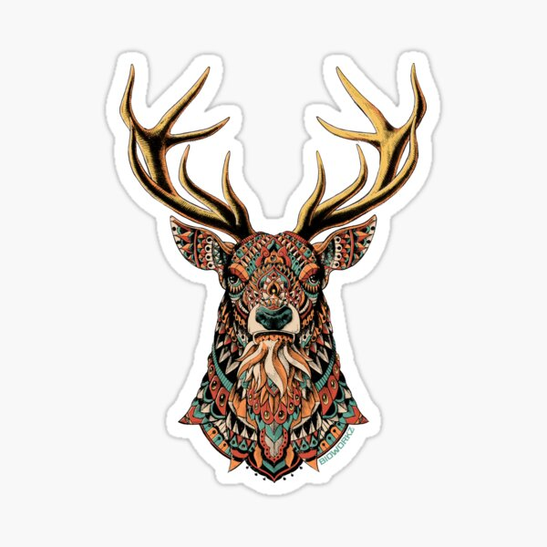 Ornate Buck Sticker