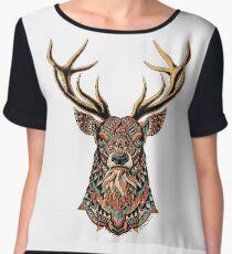 Ornate Buck Chiffon Top