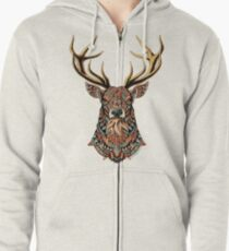 Ornate Buck Zipped Hoodie