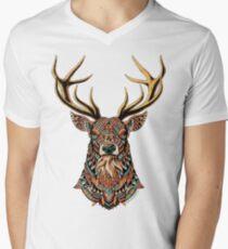 Ornate Buck Men's V-Neck T-Shirt