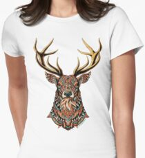 Ornate Buck Women's Fitted T-Shirt
