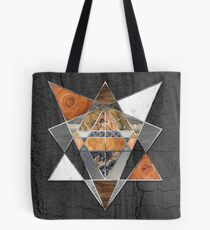 Rustic Geometry unusual Modern polygonal Urban Lodge art Tote Bag