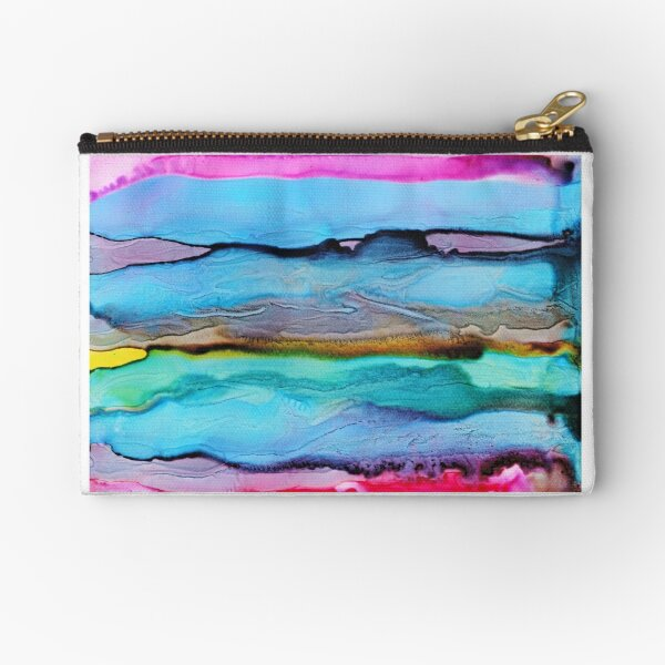 Abstract Print - Watery Waves Seascape Zipper Pouch