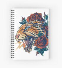 Verzierter Leopard (Farbversion) Spiralblock
