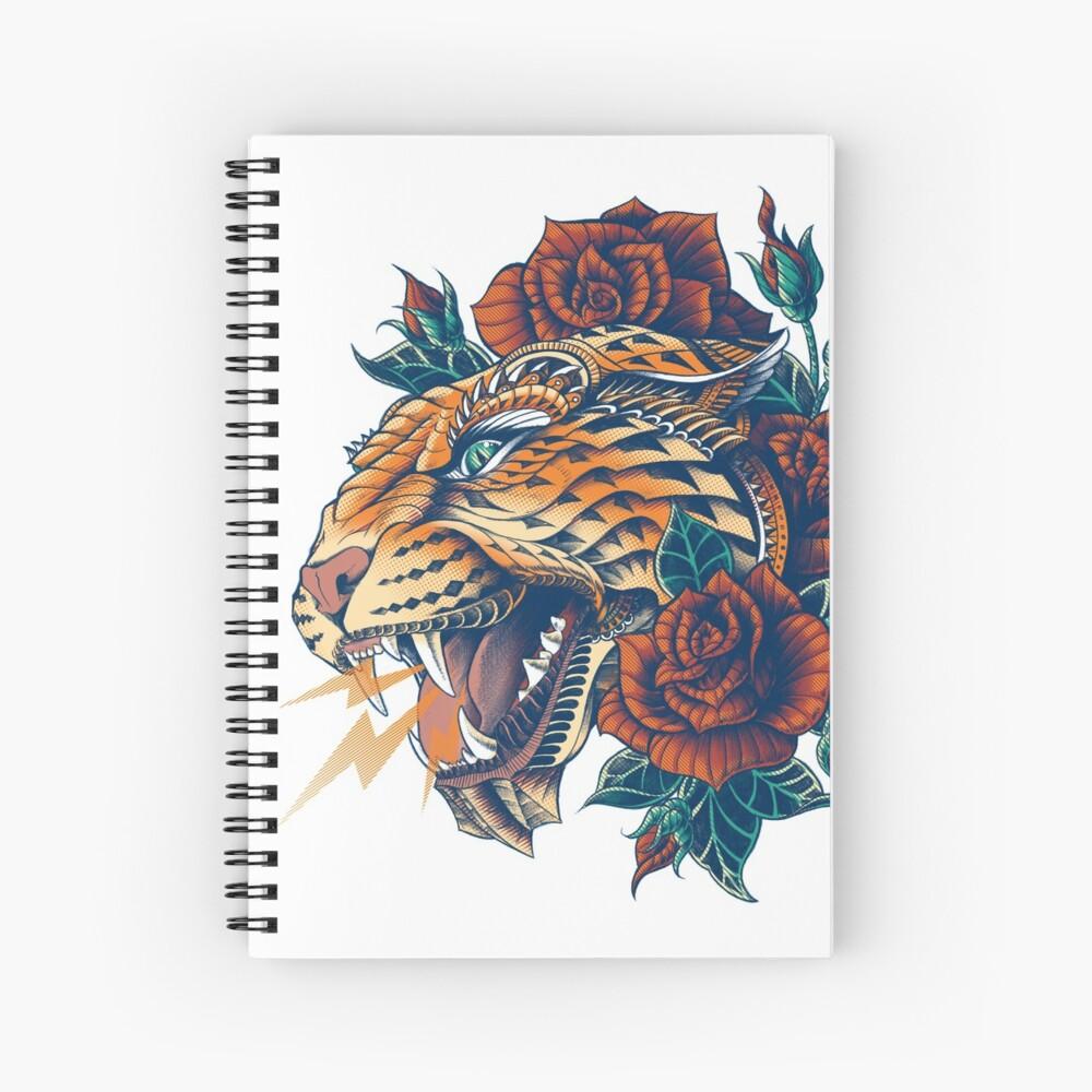 Ornate Leopard (Color Version) Spiral Notebook