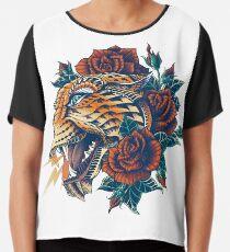 Verzierter Leopard (Farbversion) Chiffontop