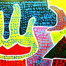 Aboriginal Art - Hand of Friendship  by cjcphotography