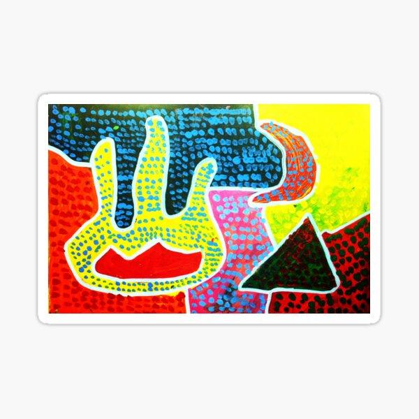 Aboriginal Art - Hand of Friendship  Sticker