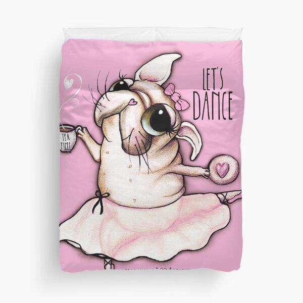 French Bulldog dancer, tea time Duvet Cover