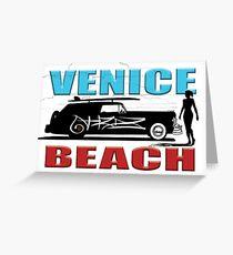 Venice Beach Surf Buggy Greeting Card