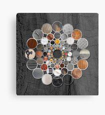 Rustic Geometry II Urban Lodge Mandala Metal Print