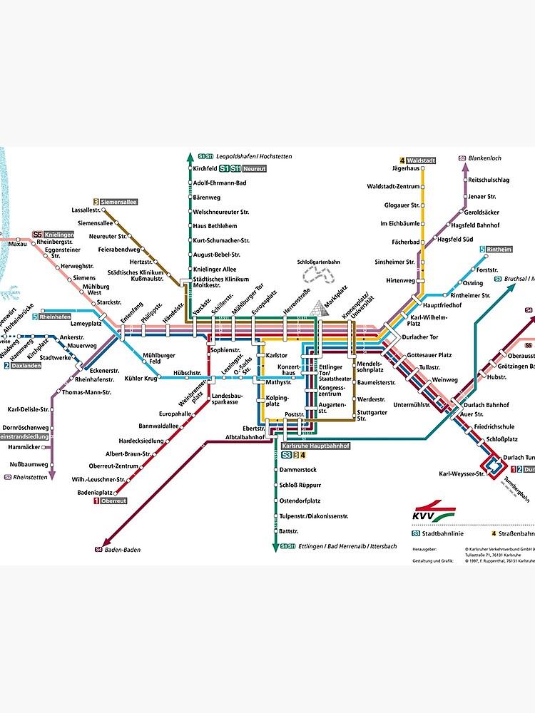Map Of Germany Karlsruhe Baden.Karlsruhe Metro Subway U Bahn S Bahn Map Germany