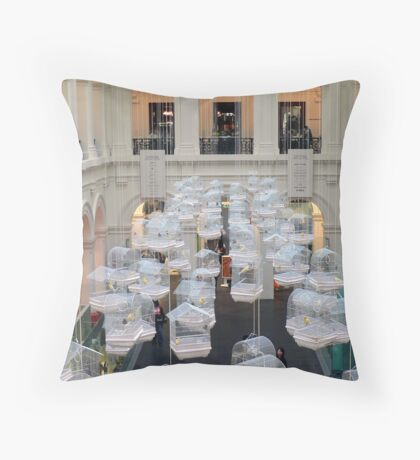 Canaries in the Melbourne GPO Throw Pillow