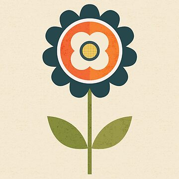 Retro Daisy - Orange and Cream by daisy-beatrice