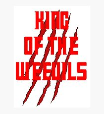 King of The Weevils (Red Words) - Torchwood Photographic Print