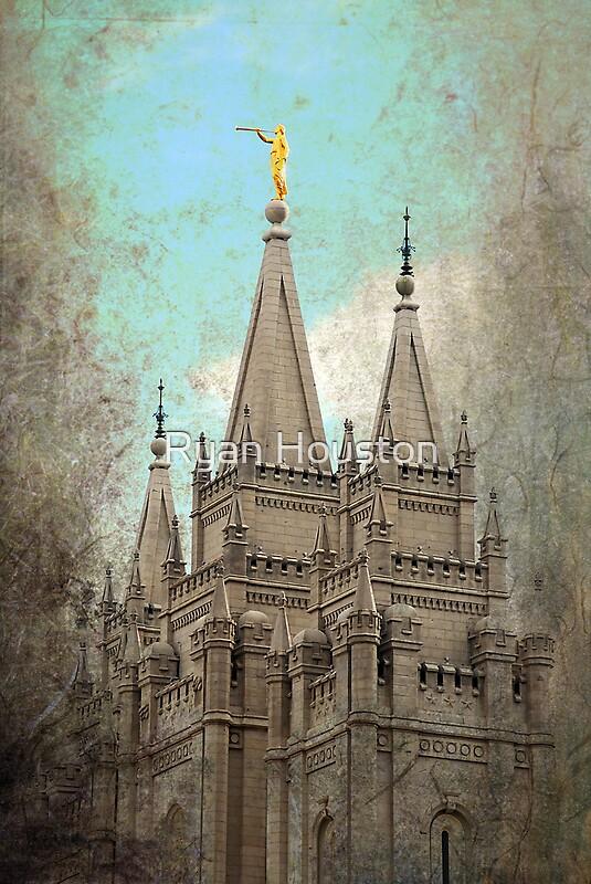 Quot Salt Lake Lds Temple Quot By Ryan Houston Redbubble