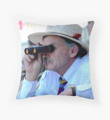 At the races, Flemington, Melbourne. Throw Pillow