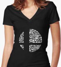Brawl Women's Fitted V-Neck T-Shirt