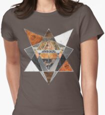 Rustic Geometry unusual Modern polygonal Urban Lodge art Women's Fitted T-Shirt
