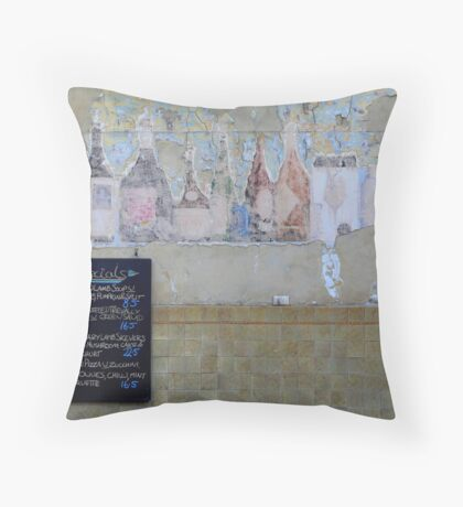 Provincial Hotel wall, Brunswick Street, Fitzroy in Melbourne. Throw Pillow