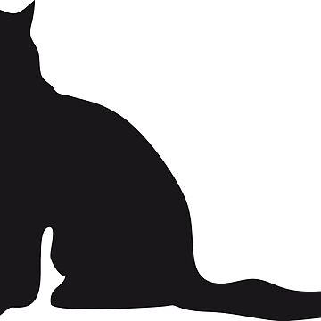 black silhouette of cat by NataliaL