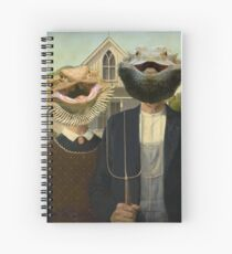 Bearded Dragon American Gothic Spiral Notebook