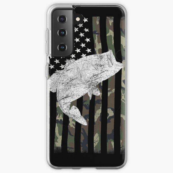 Camouflage Flag Bass Fishing Angler Samsung Galaxy Soft Case