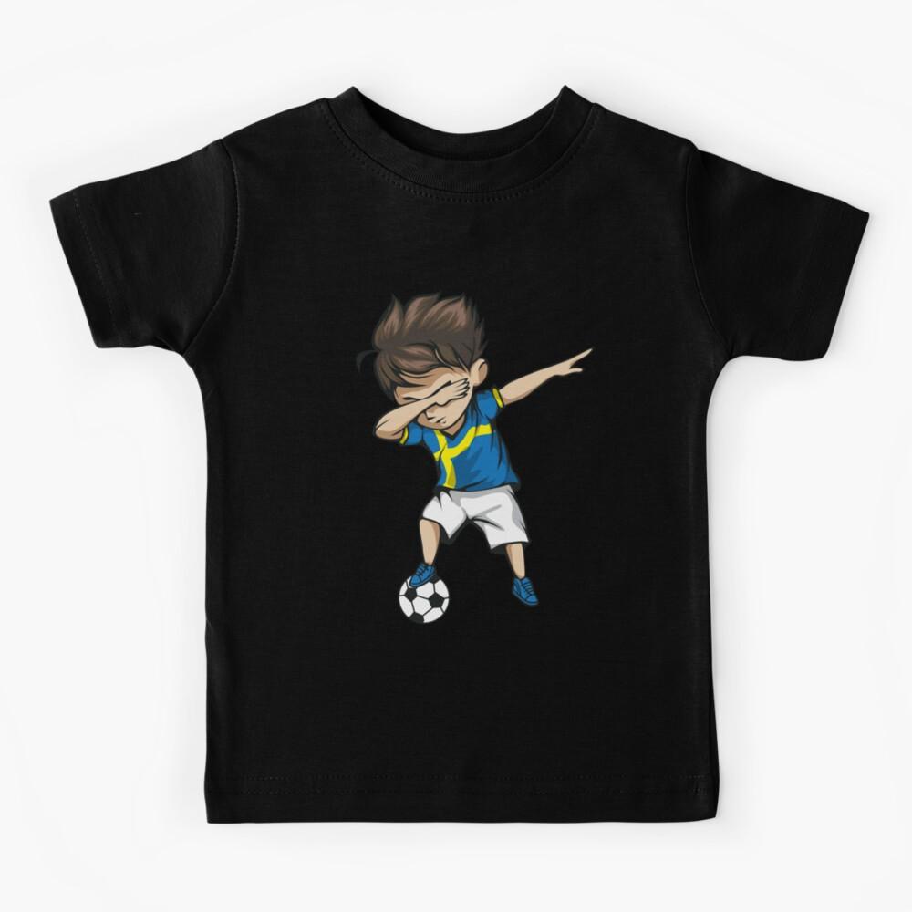 Tupfender Fußball-Junge Schweden Jersey Football Kinder T-Shirt