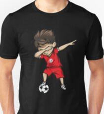 Dabbing Soccer Boy Tunisia Jersey Football Unisex T-Shirt