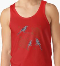 Magpies on red Men's Tank Top