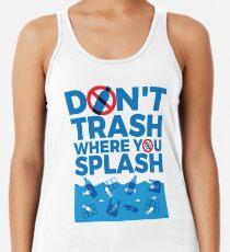 Camiseta con espalda nadadora No basura donde chapotea