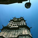 Gargoyles on C16 tower Saint-Cyr-et-Sainte-Julitte-de-Nevers Cathedral Nevers France 19840828 0024  by Fred Mitchell