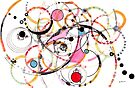 Spheres of Influence - ink on paper by Regina Valluzzi