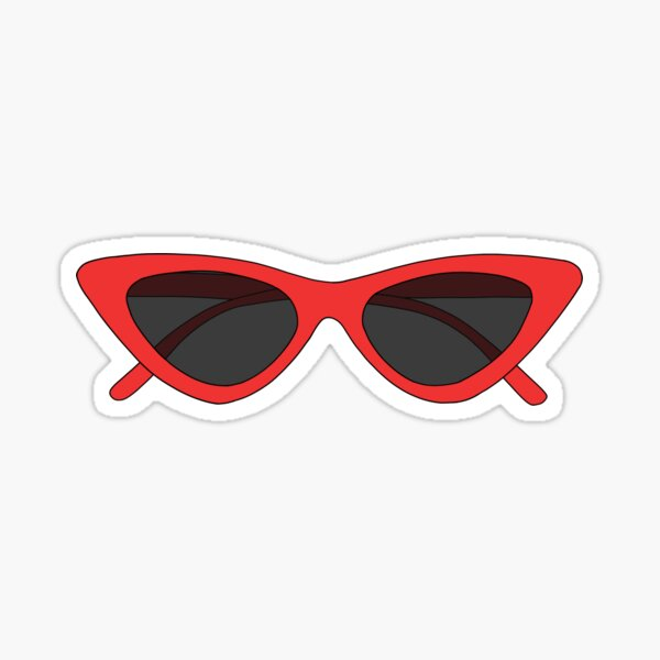 TRENDY RED SUNGLASSES Sticker