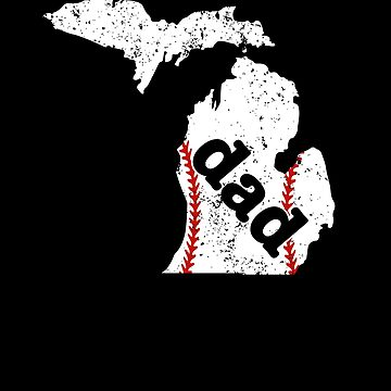 New Dad Baseball Shirt Michigan Dad Shirt Baseball by shoppzee