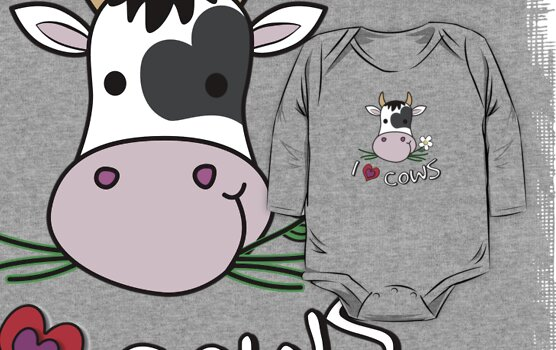 I Love Cows - Cute Cow Gifts by NoBonesLife