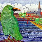 391 - THE GREEN RAVEN - DAVE EDWARDS - FINELINERS - 2013 by BLYTHART