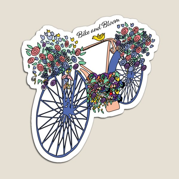 Bike and Bloom Magnet