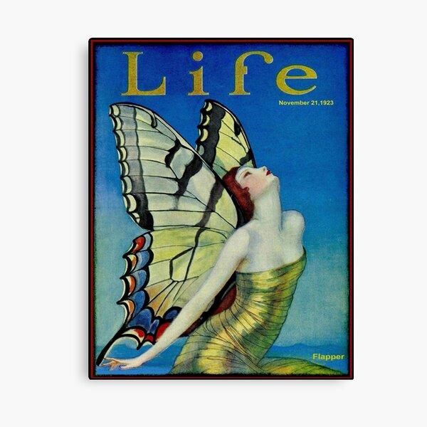 LIFE : Vintage 1923 Flapper Butterfly Print Canvas Print