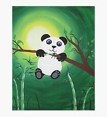 Baby Panda spielen Fotodruck