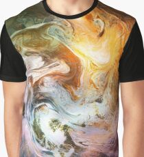 Fluid Movement Abstract Art Graphic T-Shirt