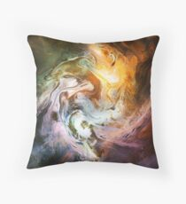 Fluid Movement Abstract Art Throw Pillow